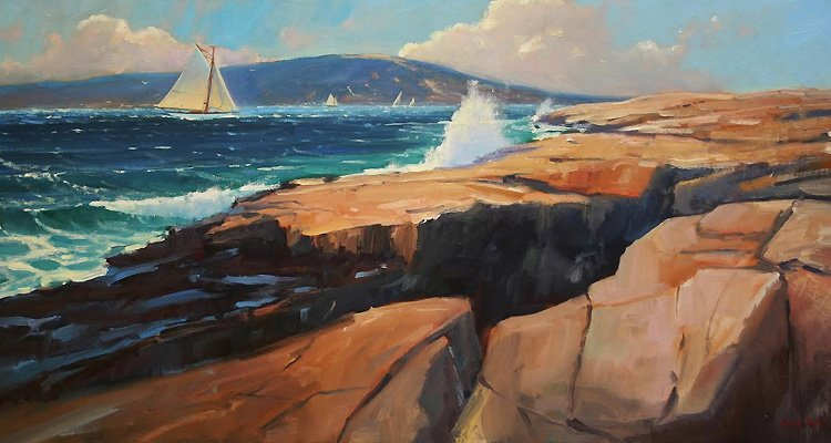 Art Calendar Maine : Four plein air painters featured in camden falls gallery